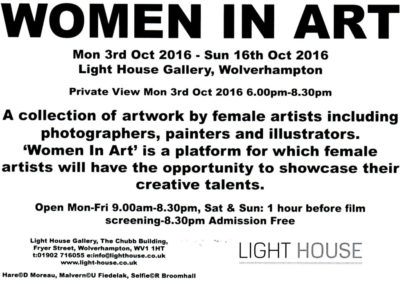 Women-In-Art---Lighthouse-Gallery,-October-2016